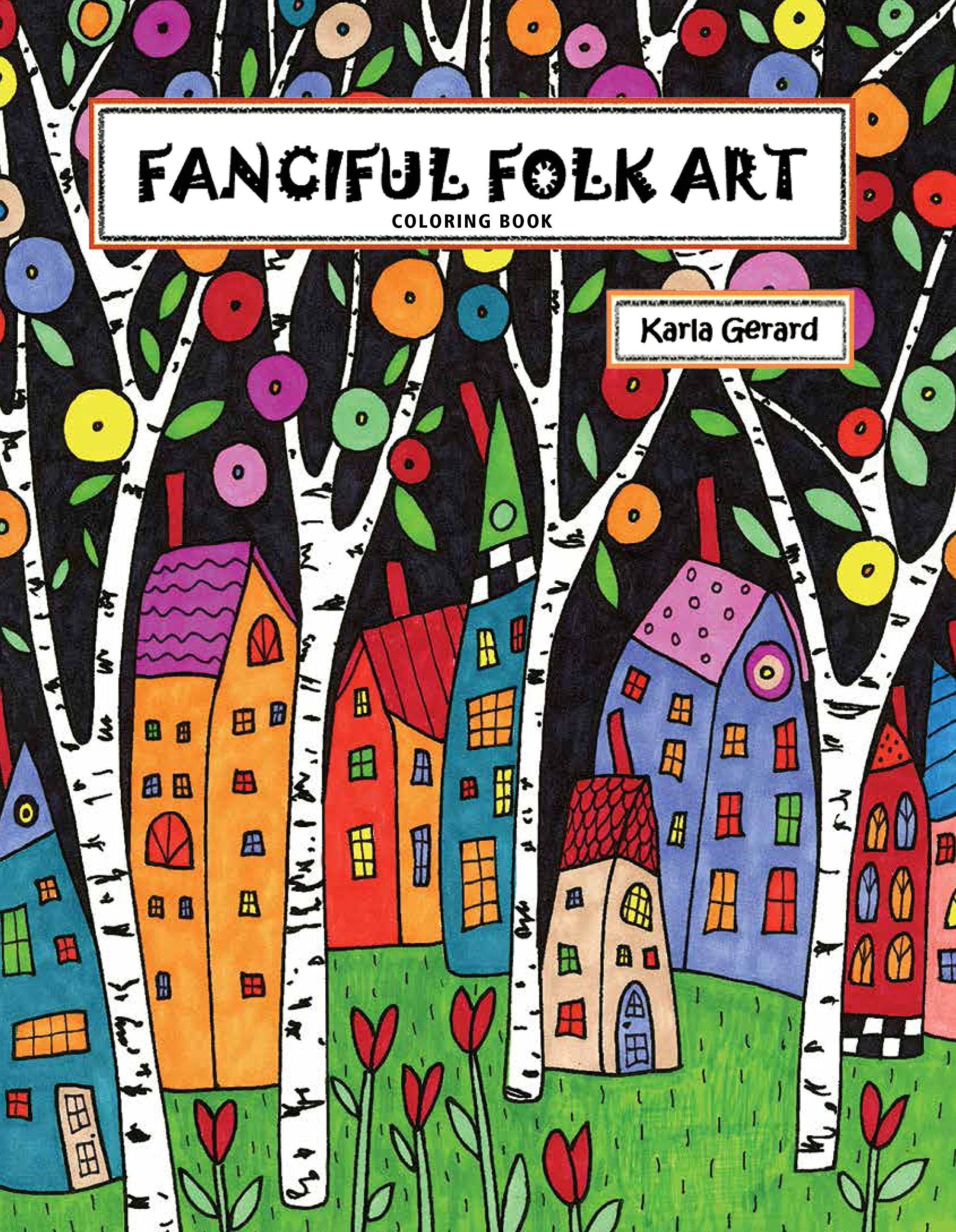 RUG HOOKING CRAFT PAPER PATTERN Houses Abstract PRIMITIVE FOLK ART Karla Gerard