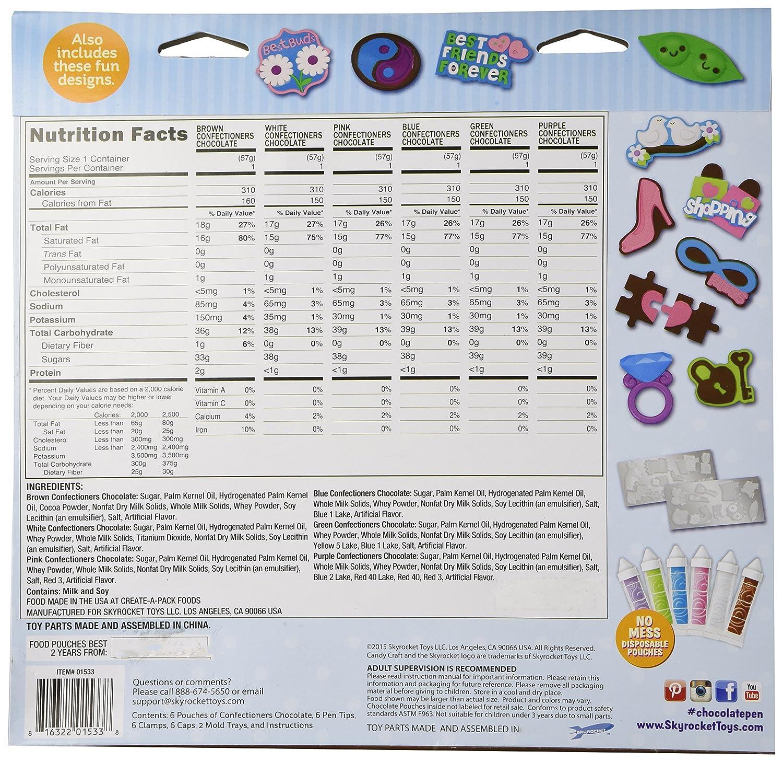 Amazon.com: Candy Craft Chocolate Pen Deluxe Treat Kit 21 Designs ...