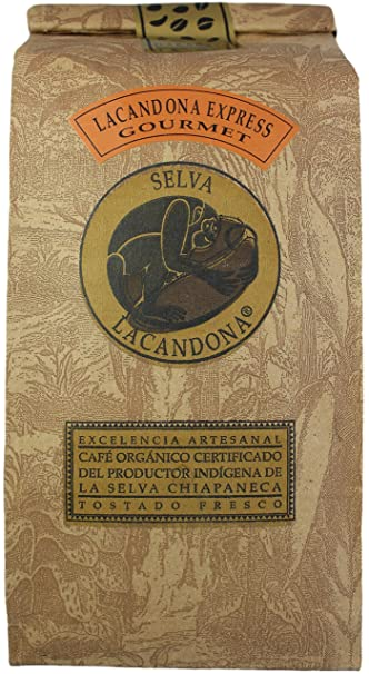 Café La Selva Mexican Chiapas Organic Premium Gourmet Coffee, 18 oz. (Espresso Roast