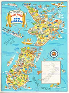 New Zealand Tourist Map North Island.New Zealand Tubed National Geographic Reference Map Amazon Co Uk