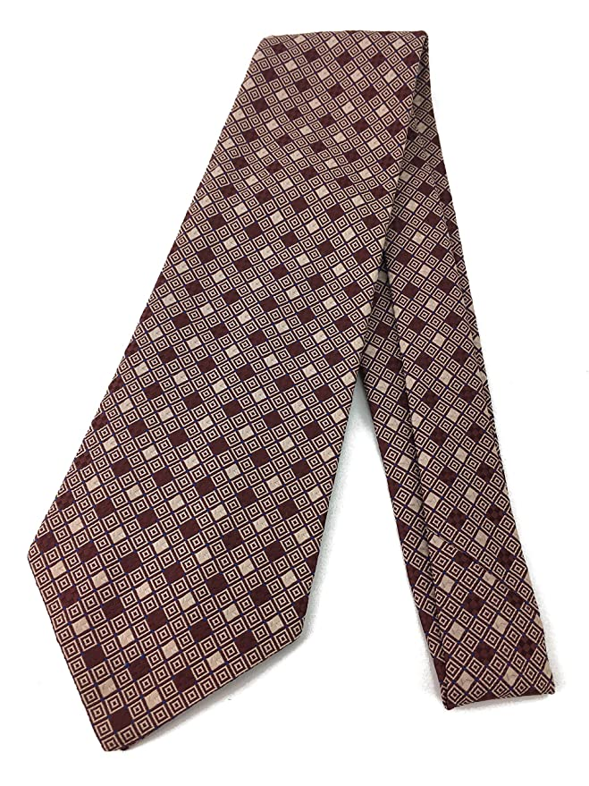 New 1930s Mens Fashion Ties Diamond Check Vintage Tie - Jacquard Weave Wide Kipper Necktie $19.95 AT vintagedancer.com