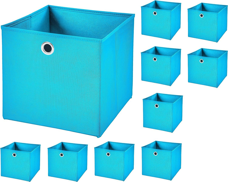 StickandShine 2er Set Blau Faltbox 32 x 32 x 32 cm Aufbewahrungsbox faltbar