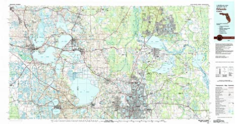 Amazon Com Yellowmaps Orlando Fl Topo Map 1 100000 Scale 30 X 60