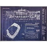 Amazon yankee stadium ballpark blueprint home kitchen fenway park blueprint print malvernweather Image collections