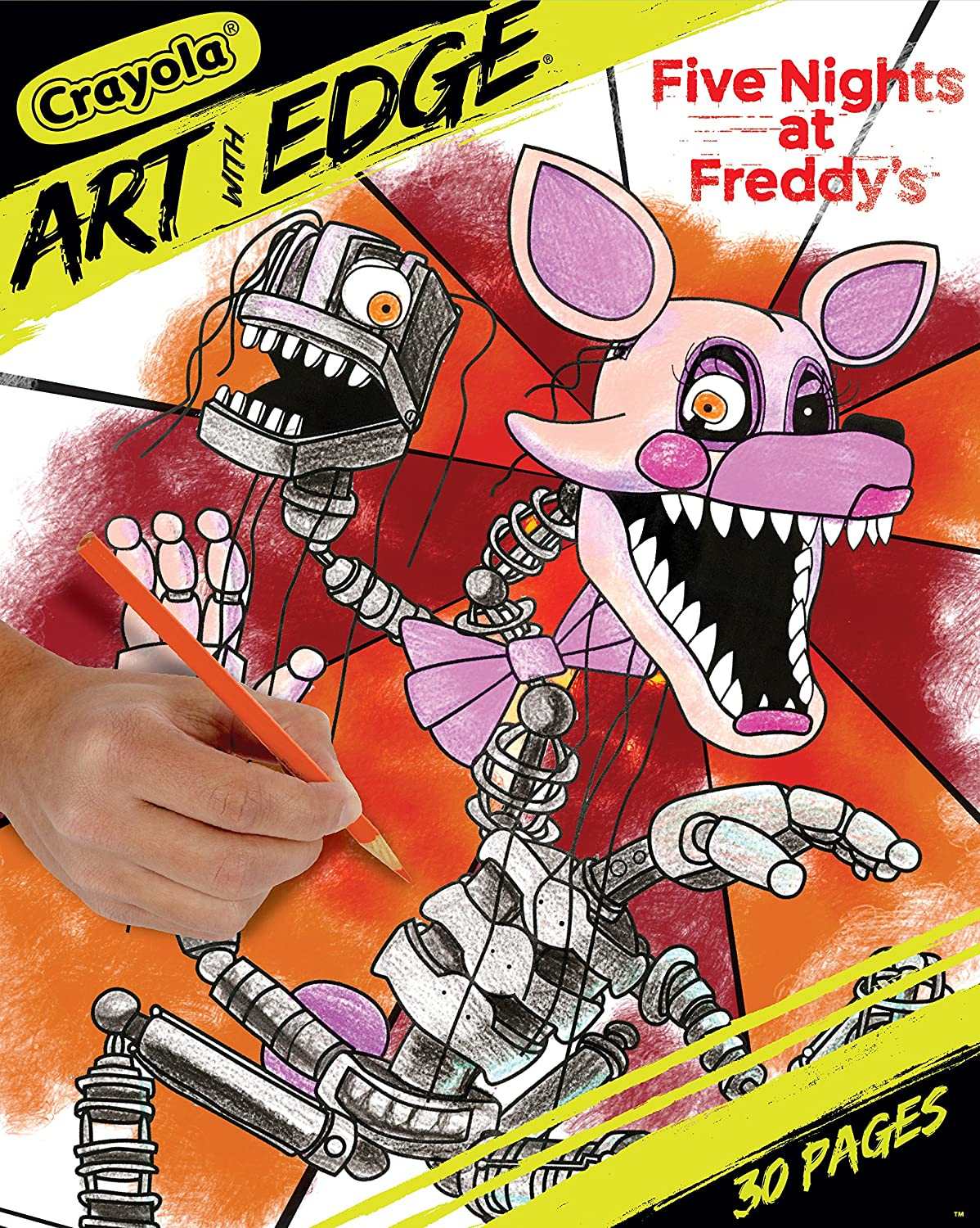 Amazon Com Crayola Five Nights At Freddy S Coloring Pages Adult Coloring 30 Count Toys Games