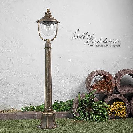 Forma Bonita lámpara de pie en oro viejo E27 hasta 60 W 230 ...