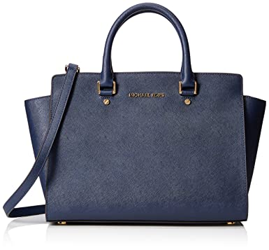 2a8121ea1061 Amazon.com  MICHAEL Michael Kors Women s Selma Large Trapeze Satchel ...