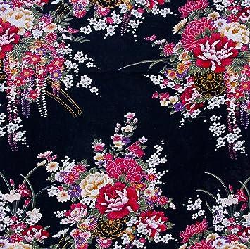 100% algodón popelín de flores lona impresa de coser telas ...