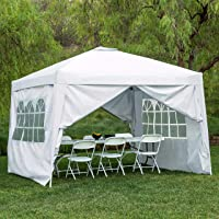 BCP 10x10ft Pop Up Canopy Tent w/Detachable Window Walls