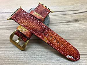 Apple Watch Band | Apple Watch Strap | Red Hawk leg skin leather watch Strap For Apple Watch 38mm & Apple Watch 42mm - Series 1 and 2