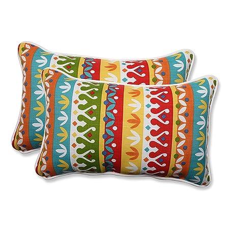 Pillow Perfect Outdoor Indoor Cotrell Garden Rectangular Throw Pillow Set of 2