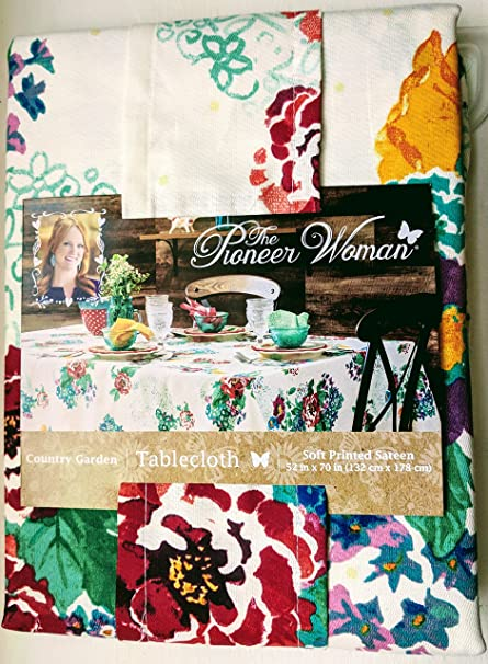 the pioneer woman tablecloth check floral kitchen linens 52x70 tablecloth country - Pioneer Woman Kitchen