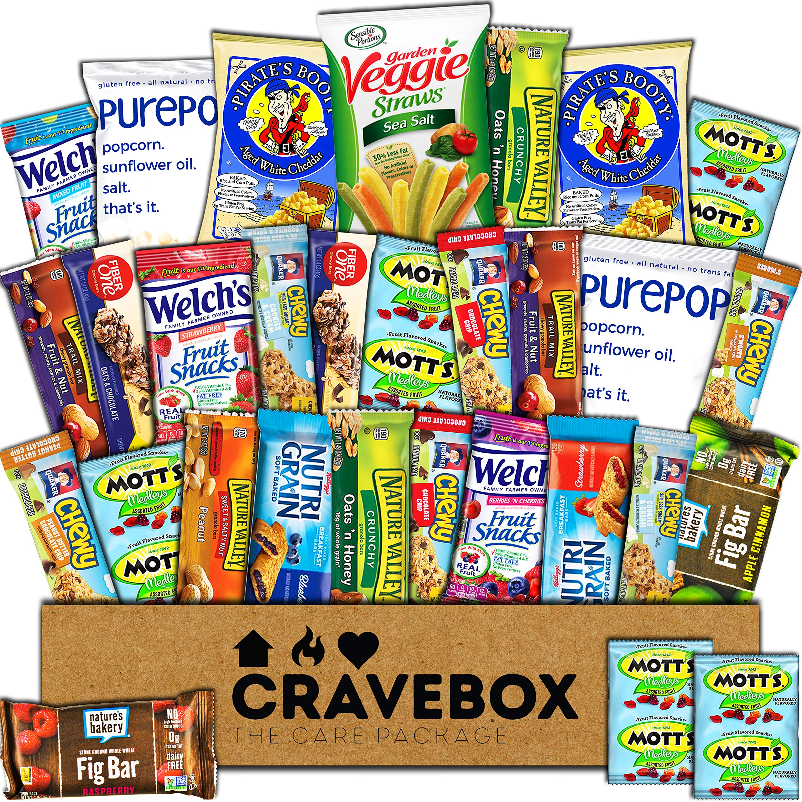 amazon com cravebox healthy snacks care package 30 count