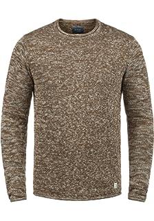 Solid Thian Jersey De Punto Suéter para Hombre con Cuello Redondo ...