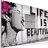 murando - Cuadro en Lienzo - Impresion en calidad fotografica - Cuadro en lienzo tejido-no tejido - Banksy 030115-3