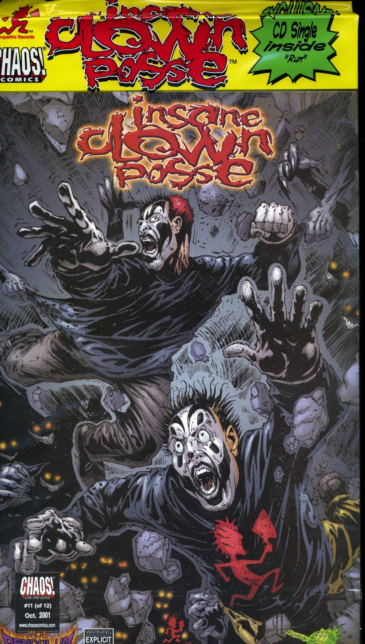 insane clown posse the pendulum 11 comic cd new icp jesse mccann