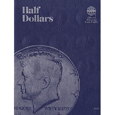 Blank Half Dollar Trifold 36 Coin Whitman No. 9045 Coin; Album, Binder, Board, Book, Card, Collection, Folder, Holder, Page, Portfolio, Publication, Set, Volume: Office Products
