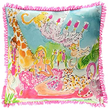 Amazoncom Lilly Pulitzer 162016 Pillow Large Zoo Party Home
