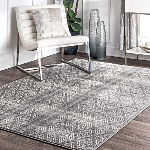 nuLOOM Sarina Diamonds Area Rug, 5 x 7 5 , Dark Grey