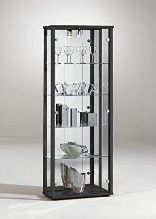 Beau RETAIL USE GLASS DOUBLE DISPLAY CABINET WITH LOCK (DOUBLE BLACK)