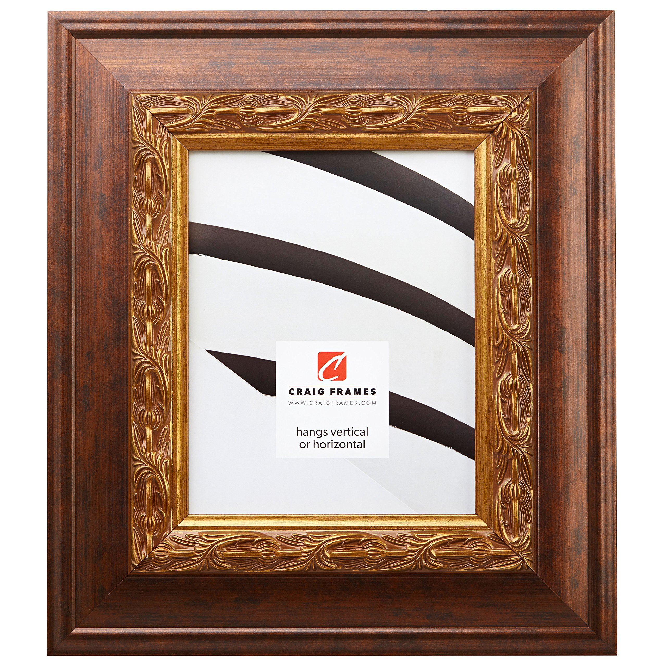 Craig Frames 9146 16 by 24-Inch Picture Frame, Ornate Finish, 3.5-Inch Wide, Antique Brushed Gold by Craig Frames