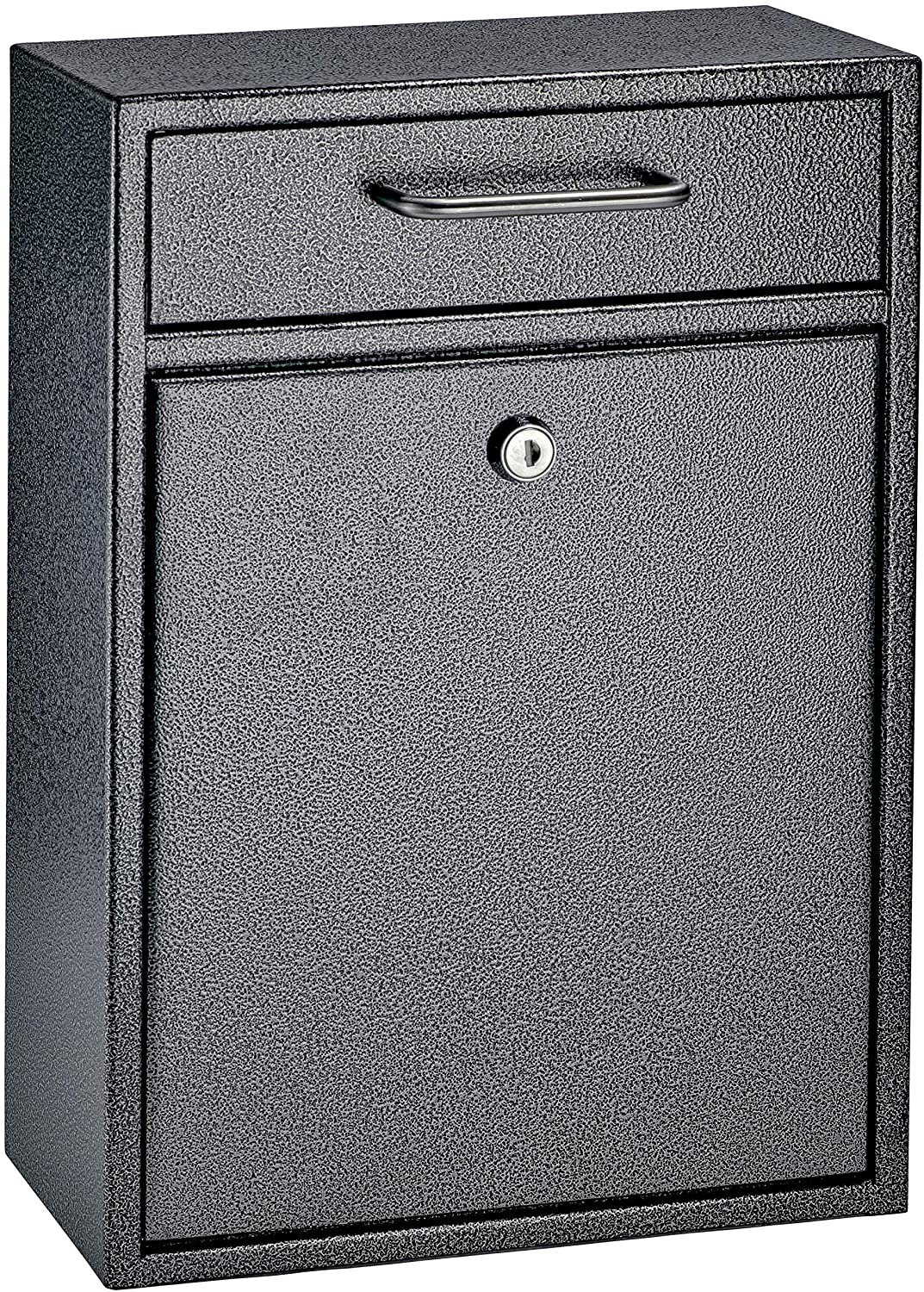 Mail Boss 7413 High Security Steel Locking Wall Mounted Mailbox-Office Comment Letter Deposit, Galaxy Drop Box,Medium