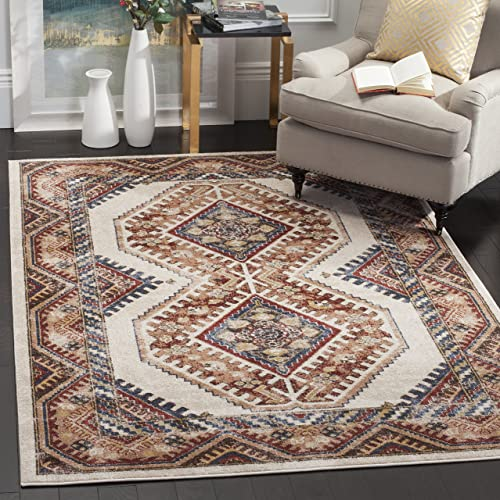 Safavieh Bijar Collection BIJ647A Traditional Oriental Vintage Ivory and Rust Area Rug 3 x 5