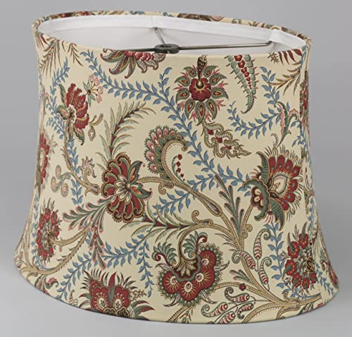 Albert Estate LTD, Oval Gold and Rust Floral Shade,6x12x10,Softback with Poly Silk Lining, Washer Fitter