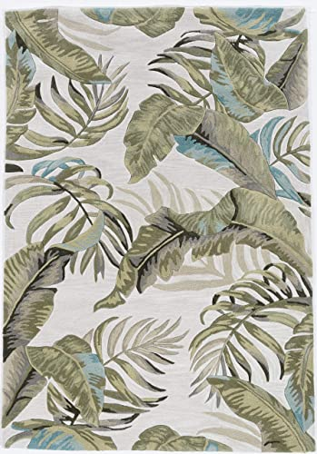 New Home Indra Tropical 5' x 7'6 Hand-Tufted Accent Rug