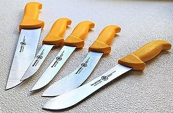 Cuchillo de trinchar profesional de carnicero Juego de 5 con ...