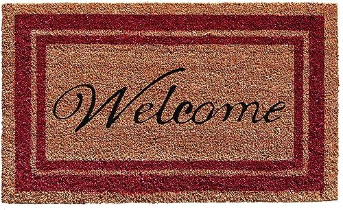 Calloway Mills Border Welcome Doormat 24 x 36 Burgundy