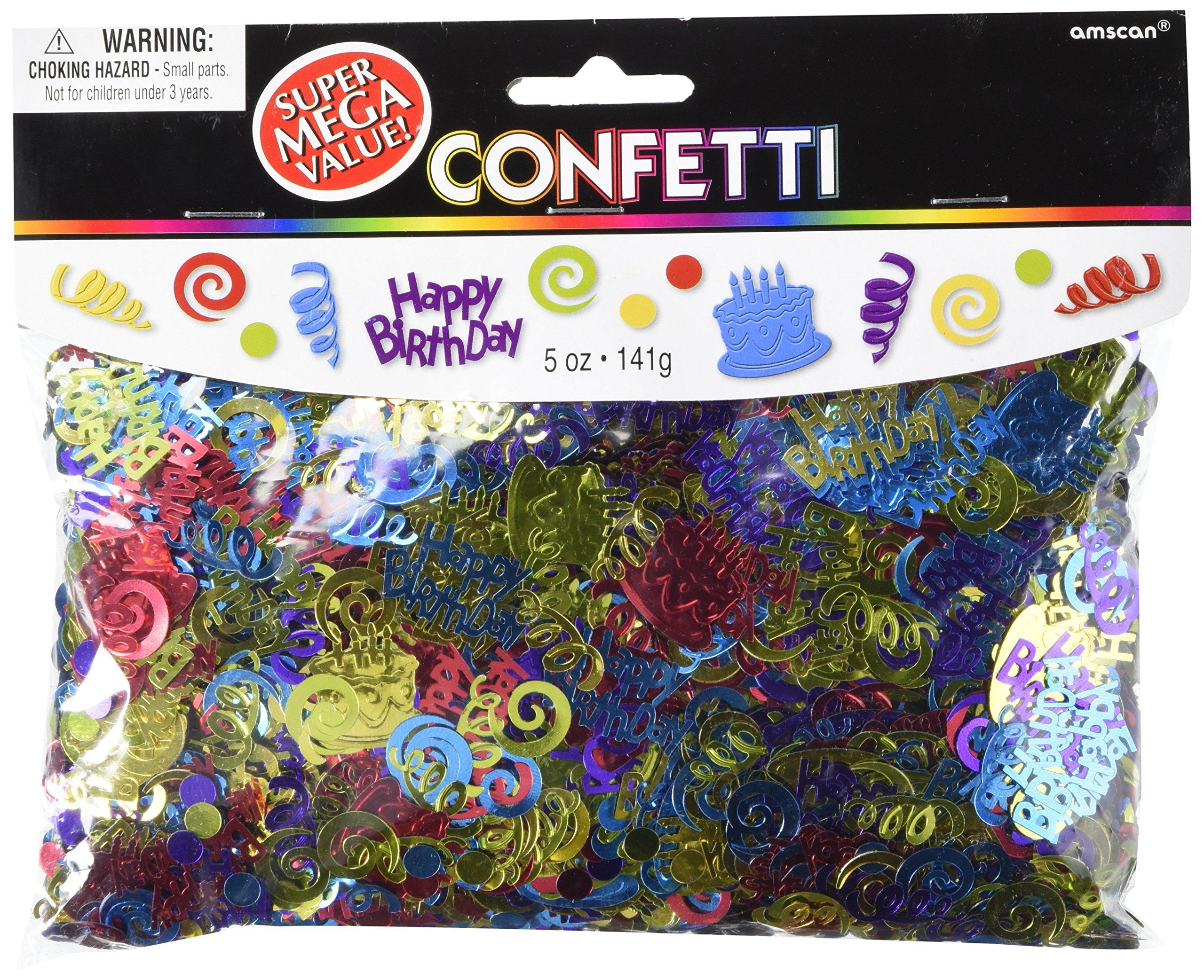 Happy Birthday Die-cut Confetti | 5oz. | Party Decor