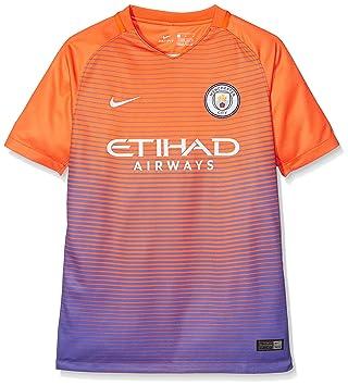Nike MCFC Y Nk Dry Stad JSY SS 3 Camiseta Línea Manchester City F.C ... f0dc2e2cbf7