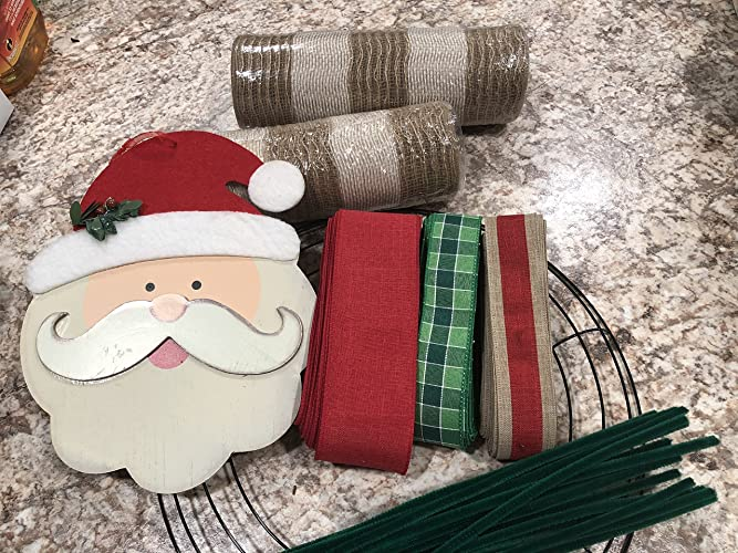 Rustic Christmas Wreath Diy.Amazon Com Rustic Christmas Santa Wreath Kit Diy