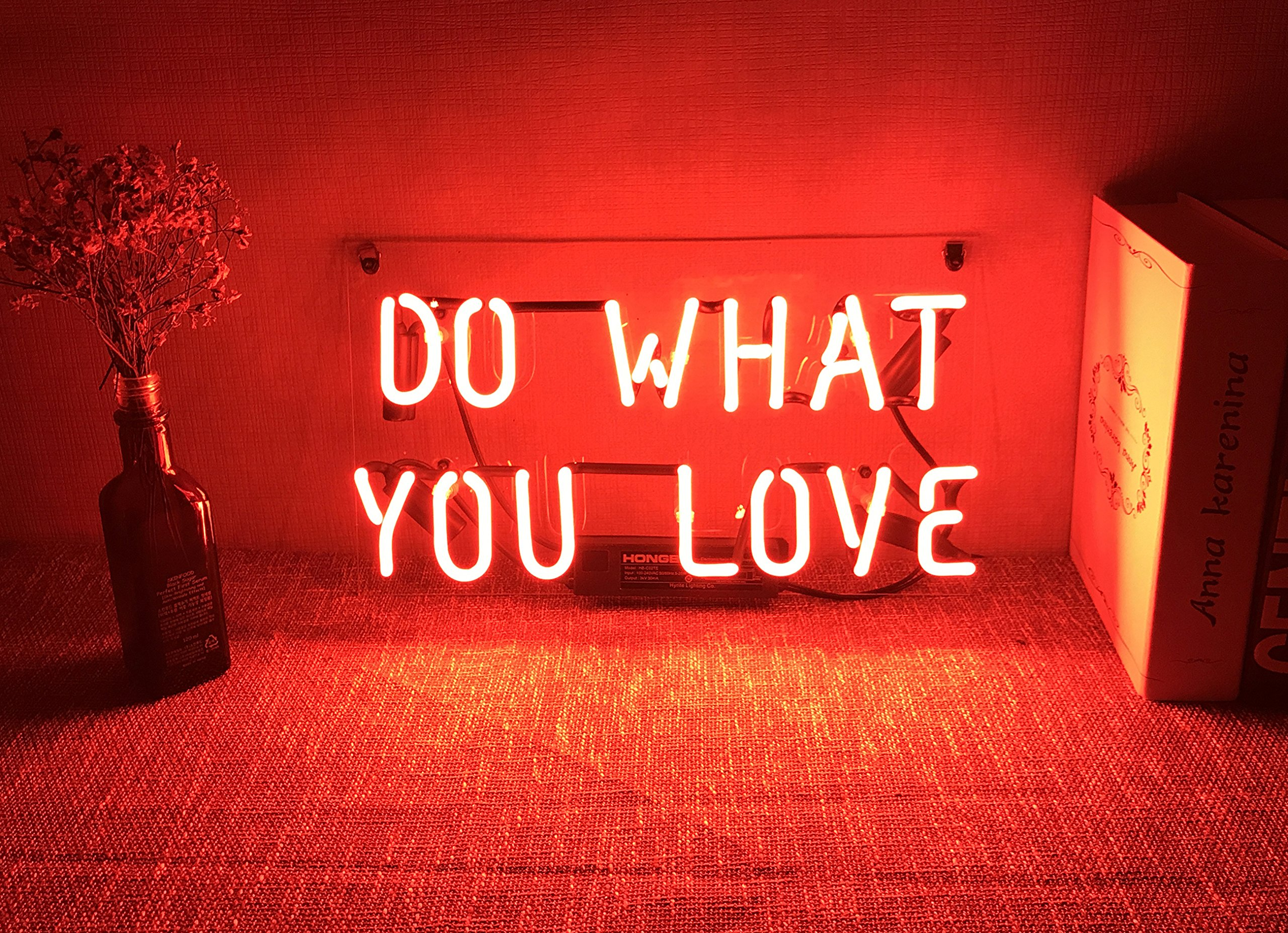 Neon Wall Sign Decorative Lights Funny Custom Girls Bedroom Beer Bar Home Room Decor Lamp Night Light Orange Red - Do What You Love