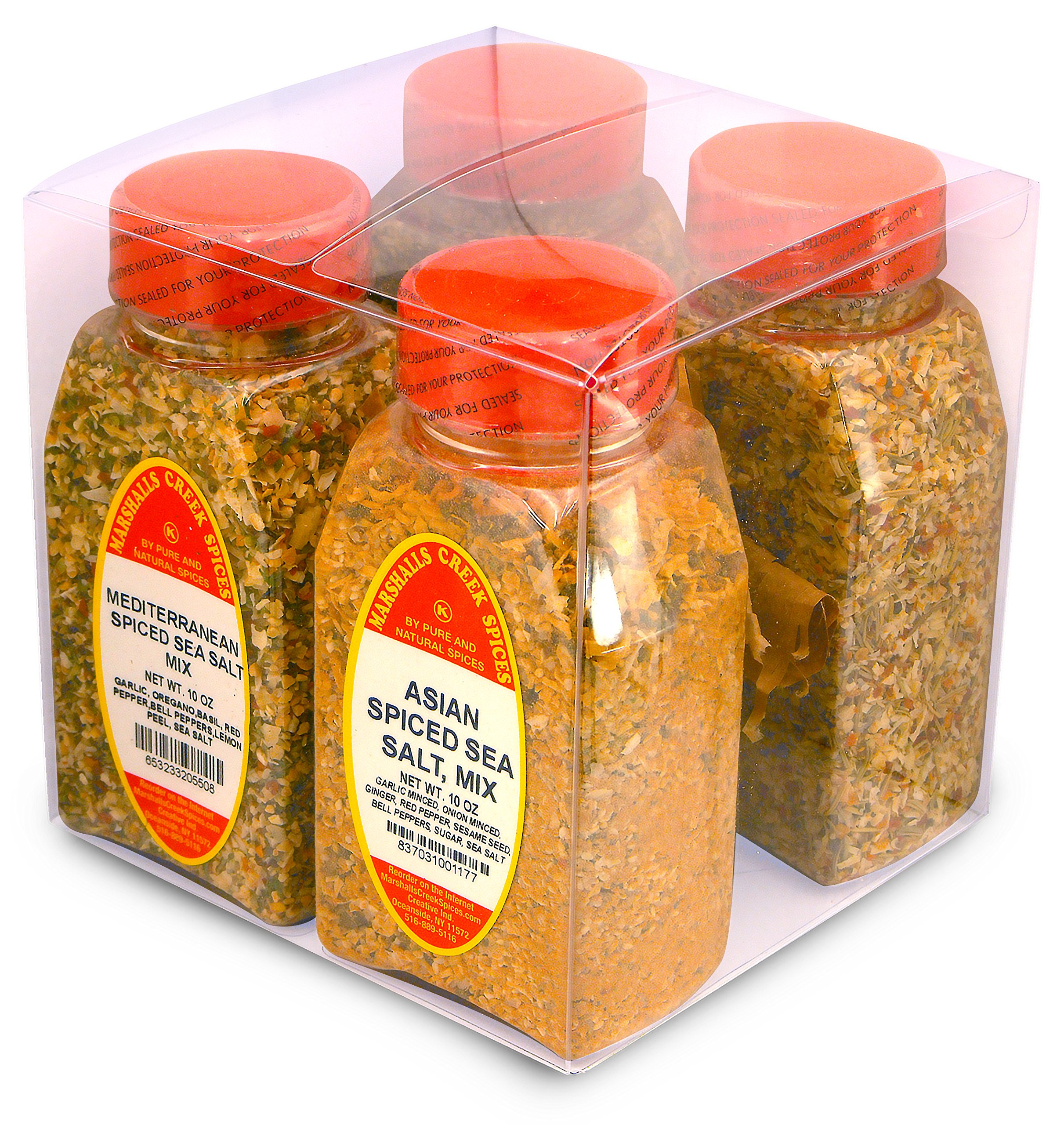 Marshalls Creek Spices Gift Cube, International Sea Salt Blends, 40 Ounce by Marshall's Creek Spices