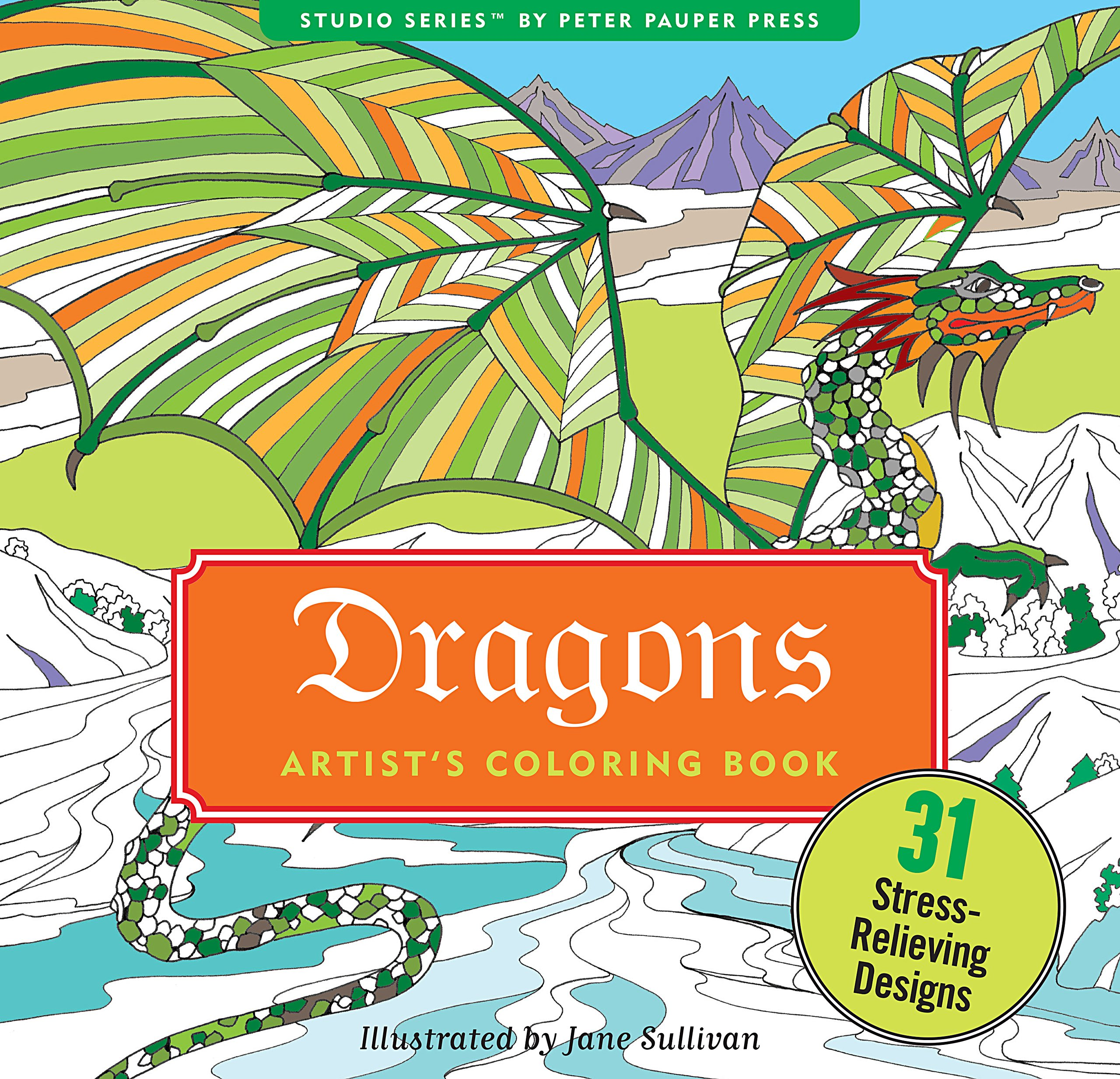 Dragons Adult Coloring Book 31 Stress Relieving Designs Studio Series Artists Peter Pauper Press 9781441319777 Amazon Books