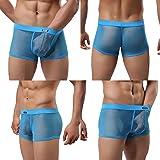 Evankin Men's Sexy Boxer Briefs Gay Mesh Breathable Cool Underwear 4