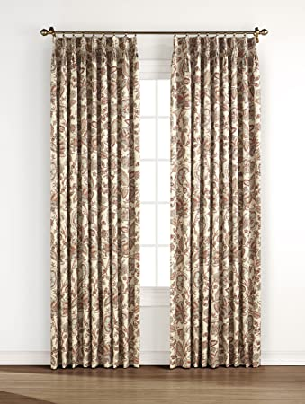 Stylemaster Splendor Pinch Pleated Drapes, 48-Inch by 63-Inch, Beige Stylemaster Home Products