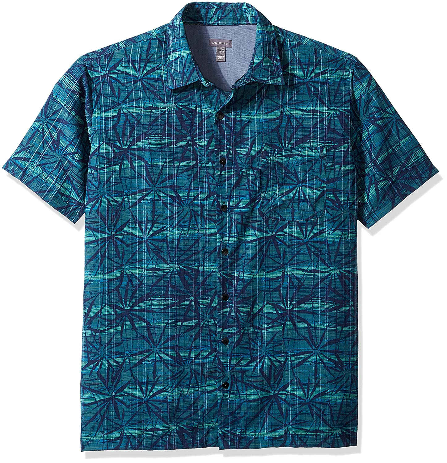 Van Heusen Mens Big and Tall Oasis Printed Short Sleeve Shirt