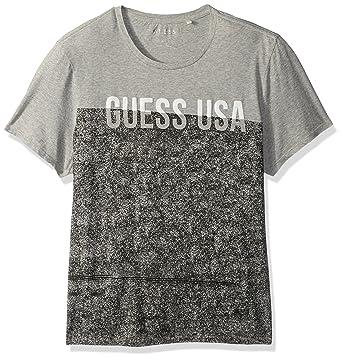 f6d9a3929af2 GUESS Men's Color Block Crew Neck T Shirt | Amazon.com