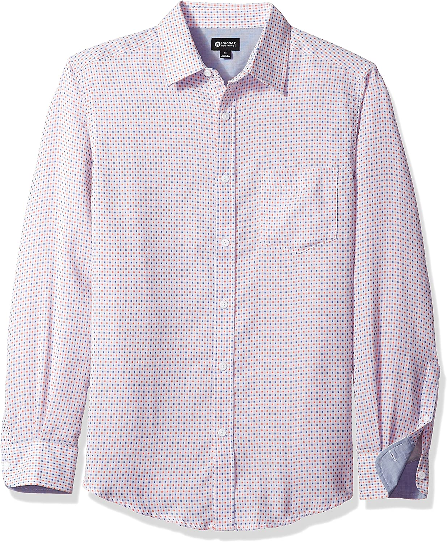 Haggar Mens Long Sleeve Tuckless Shirt