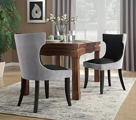 Fantastic Amazon Com Iconic Home Conrad Dining Side Chair Velvet Pu Caraccident5 Cool Chair Designs And Ideas Caraccident5Info