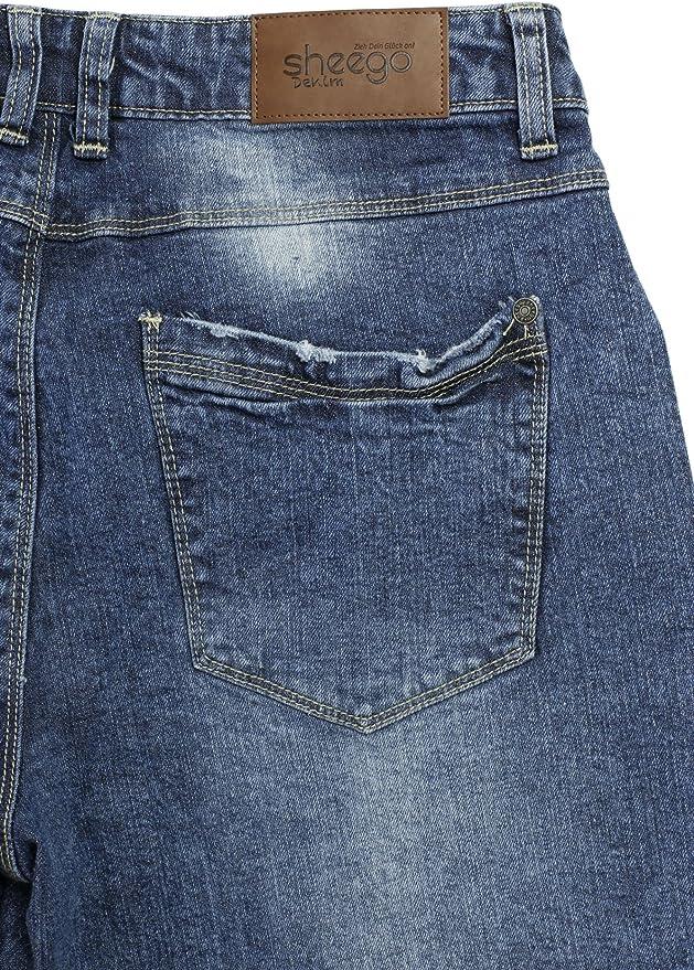 Sheego 7/8 dżinsy Caprijeans Spodnie Wąskie damskie Stretch Plus rozmiar duży - Capri 58: Odzież