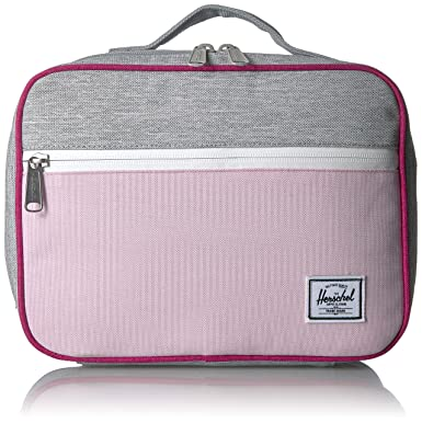 Herschel Pop Quiz Lunchbox Kid s School Backpack Light Grey Berry Pink Lady  Crosshatch 5d6f1ee811462