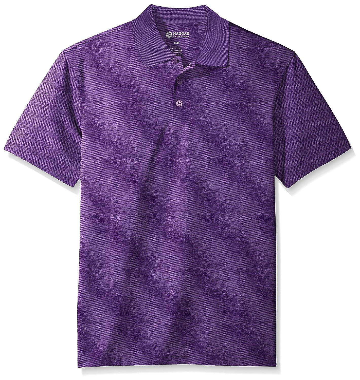 Haggar Mens Short Sleeve Polyester Knit Polo