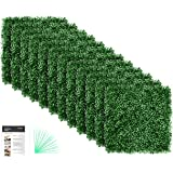 Grass Wall Panel Boxwood Hedge Wall Panels Grass Backdrop Wall with UV Protection for Artificial Green Wall Privacy Fence Ver