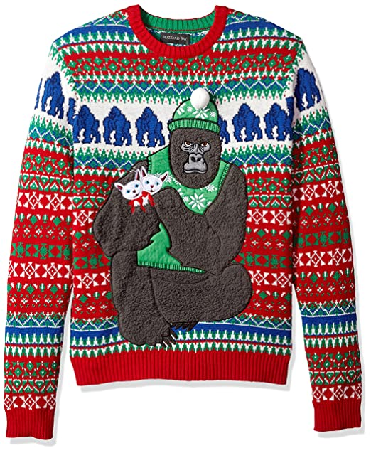 Kitten Christmas Sweater.Blizzard Bay Men S Ugly Christmas Sweater Gorillas