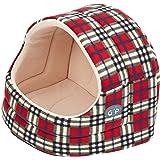 Gor Pets Hooded Luxury Cat Bed Igloo - Large (Red/ Cream Fleece)
