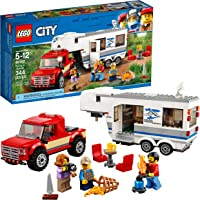 Lego City Great Vehicles Pickup & Caravan Building Kit (344 Pieces)